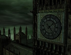 Big Ben Westminster Bridge gritty-style textures 3D
