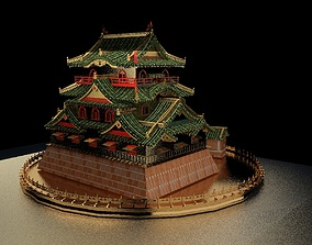 3D model Chinese house