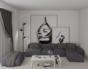 livingroom deco 3D model