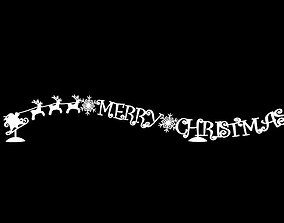 Merry Christmas Sign 3D printable model