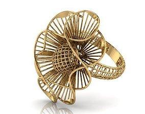 Ring ultra vision 3D printable model rings gold