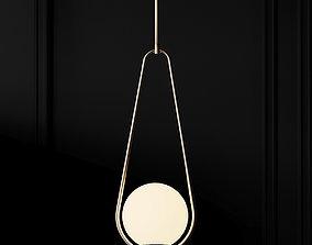 Lampa wiszaca Loop miedziana 3D model