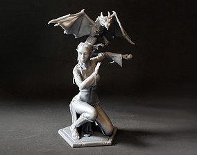 Woman and Dragon 3D print model