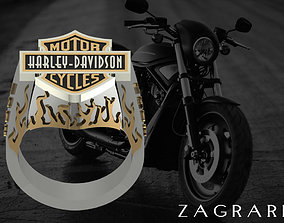 3D print model rings Harley Davidson Ring