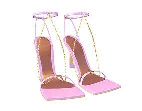 3D model Square Toe Leather Sandals v2 007