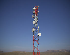 Telecommunications Tower PBR 3D model low-poly