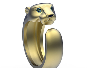 3D printable model Ring Cat gems