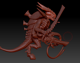 Tyranid Warrior and Prime 3D print model