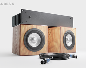 Studio monitors DMAX audio Super Cubes 5 3D asset