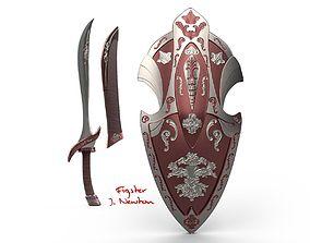 3D model Sword and Shield V01