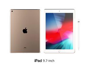 3D model iPad 9 7-inch Gold