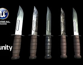 3D asset Realistic High Quality Low Poly Combat Knife