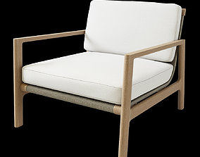 3D MESA TEAK LOUNGE CHAIR