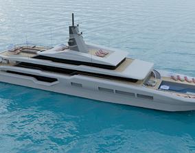 3D model Luxury Super Yacht