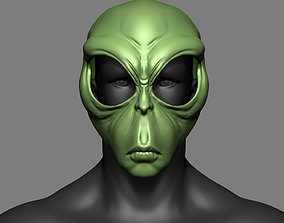 3D print model Alien Mask Cosplay Costume Helmet