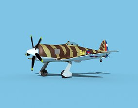 Hawker Sea Fury V17 AFC 3D model