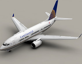 3D Boeing 737-700 Continental Airlines