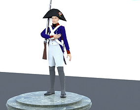 NAPOLEON LIGHT INFANTERY SOLDIER 3D model rigged