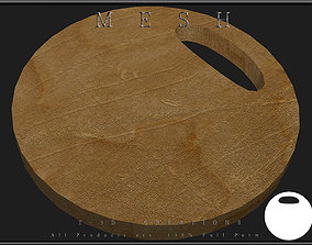 3D model Round Chopping Board 02