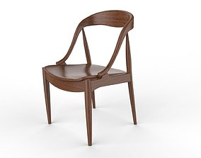 Modern Wood Chair 03 3D model realtime