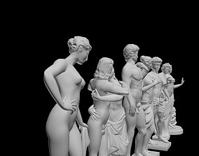 7 ancient Greek god sculpture 3D models