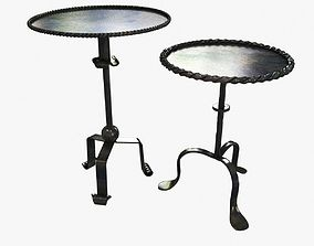 3D model 2 metal custom made hammered tables