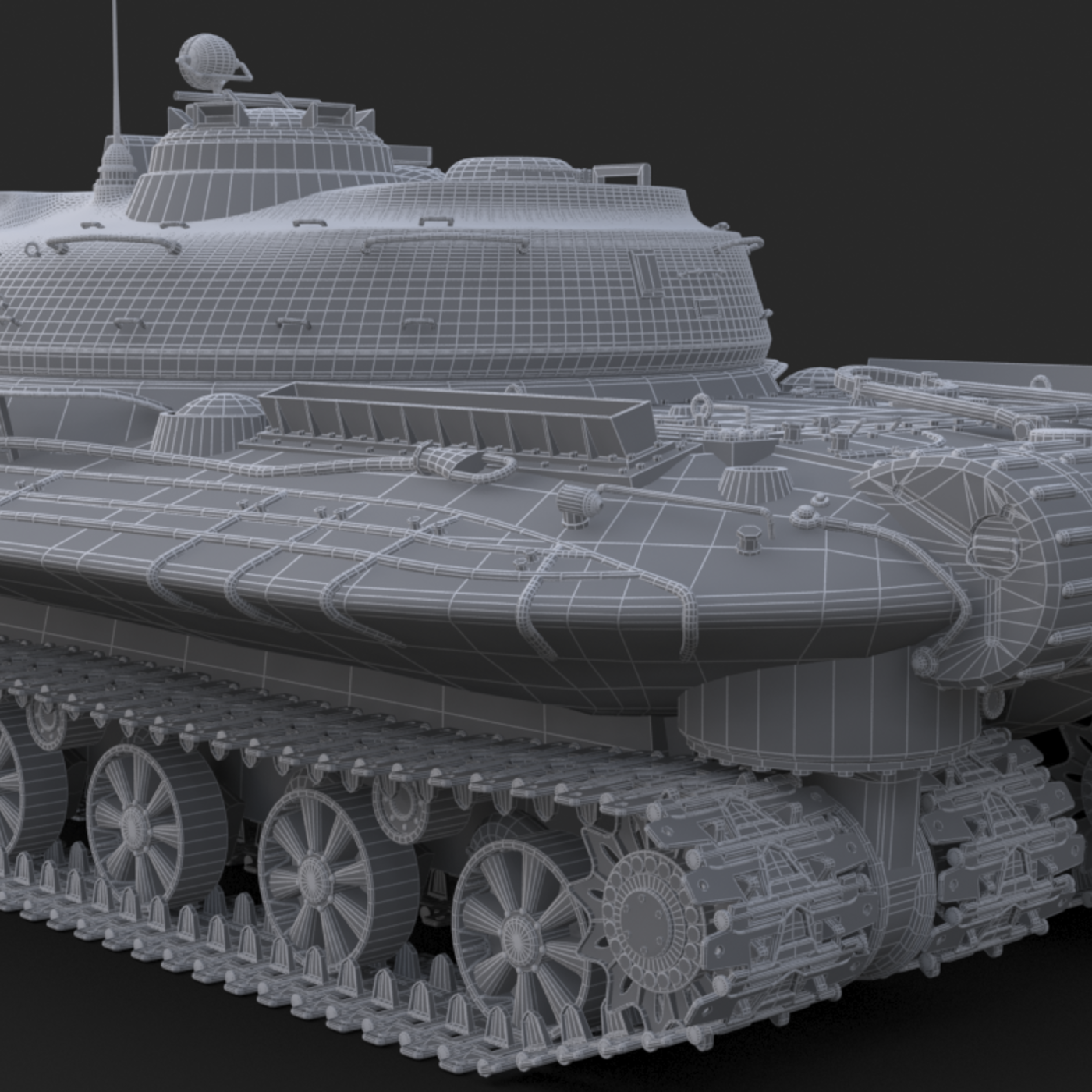 Tank Object 279 Soviet Green Vray