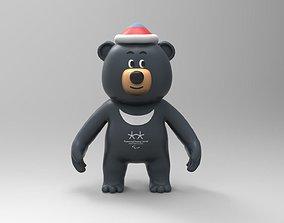 Bandabi mascot of Pyeongchang Paralympic games 3D model