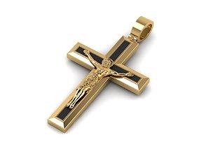 3D print model Elegance Pendant Jesus Cross With Enamel