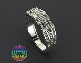 jewelry diamond ring 3D print model gem