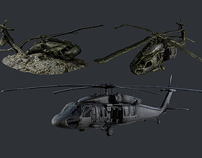 3D model Sikorsky UH60 Black Hawk Military Helicopter 3
