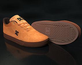 Realisitc DC Shoes Crisis - Brown 3D model
