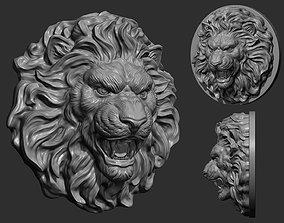 3D print model art Lion Head