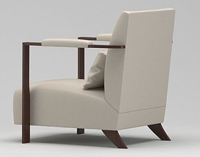 3D model White And Dark Brown Chair