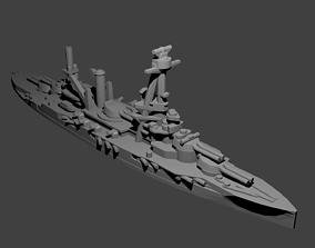 French Bretagne-Class Battleship 3D printable model