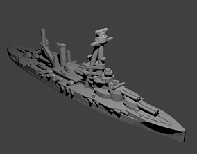 French Bretagne-Class Battleship 3D printable model