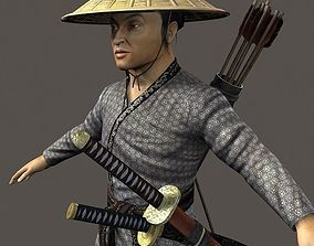 Samurai Hero Playable Character 3D asset
