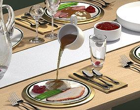 Holiday Dinner - Gravy Pour 3D model