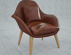 3D model living Arm chair fredericia swoon