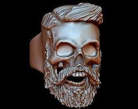 3D print model beard skullring