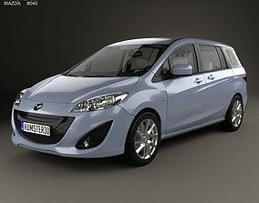 Mazda 5 with HQ interior 2010 3D hq