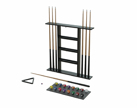 3D asset Pool Table Accessories Collection