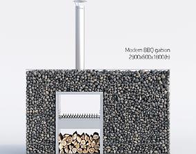 3D model Modern BBQ gabion