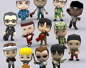 3DRT - Chibii People Males animated