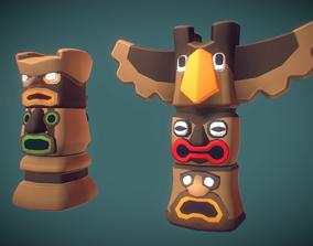 Cube World Totem - Proto Series 3D asset