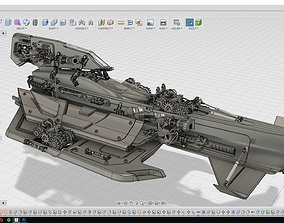 Sci-Fi Spacecraft 3D Printable sci-fi