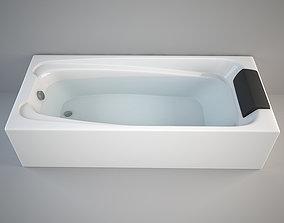 3D asset realtime Generic Bathtub - Full