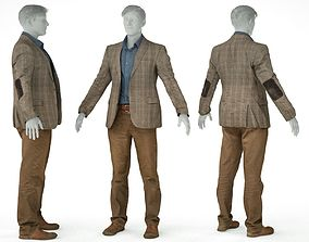 3D model Male Costume Outfit 33 Jacket Shirt Pants