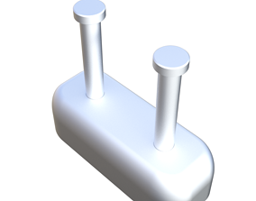 clothes hook 3D print model