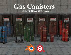 3D asset Gas Canisters PBR